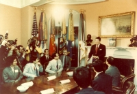Dr. Wang met  President Ronald Reagan at the White House