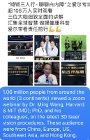 1.06 million people from around the world attended a zoom webinar by Dr. Ming Wang