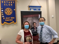 Dr. Wang spoke at the Mt. Juliet Rotary_1