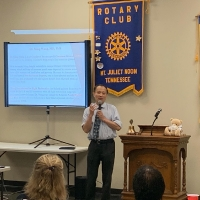 Dr. Wang spoke at the Mt. Juliet Rotary_2