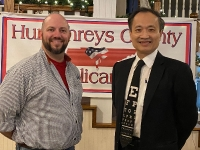 Dr. Wang and Humphery County GOP chairman Jared Kirk_1