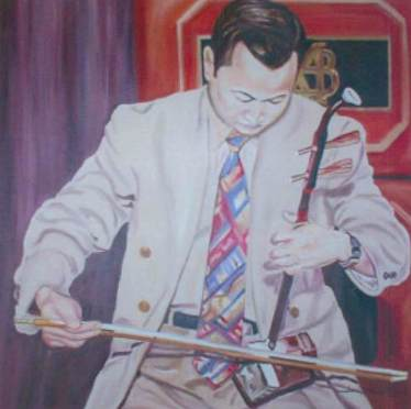 wang erhu oil painting